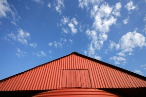 Red Barn And Sky